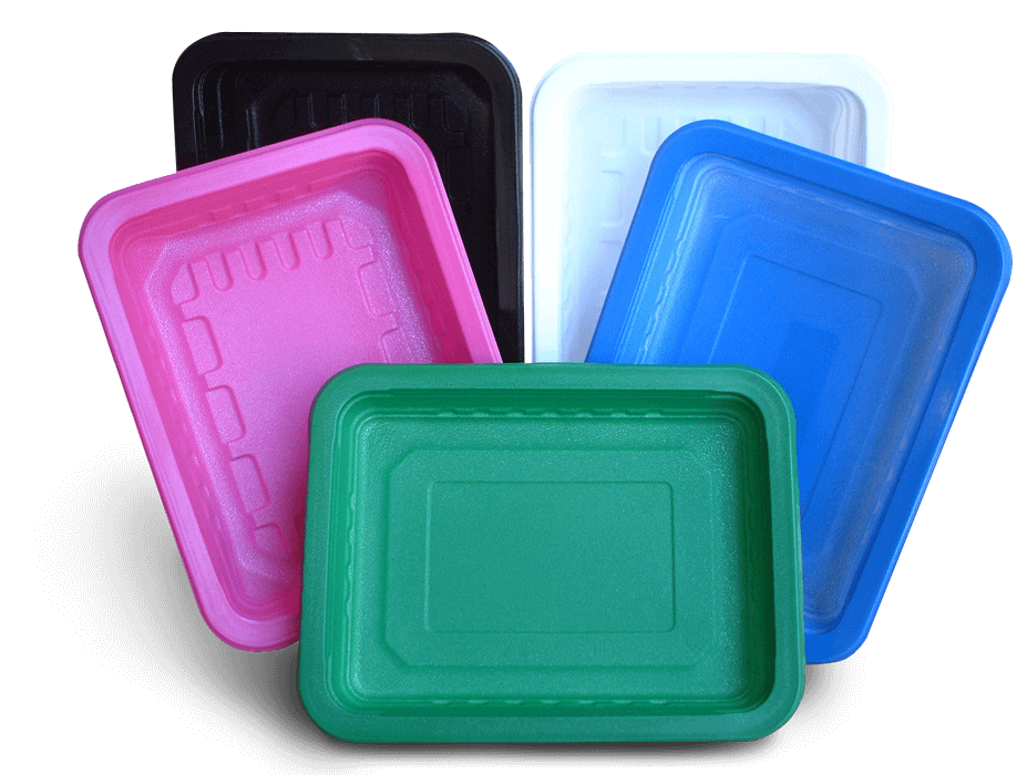 colored trays go green